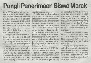 Media Indonesia_pungli penerimaan siswa marak